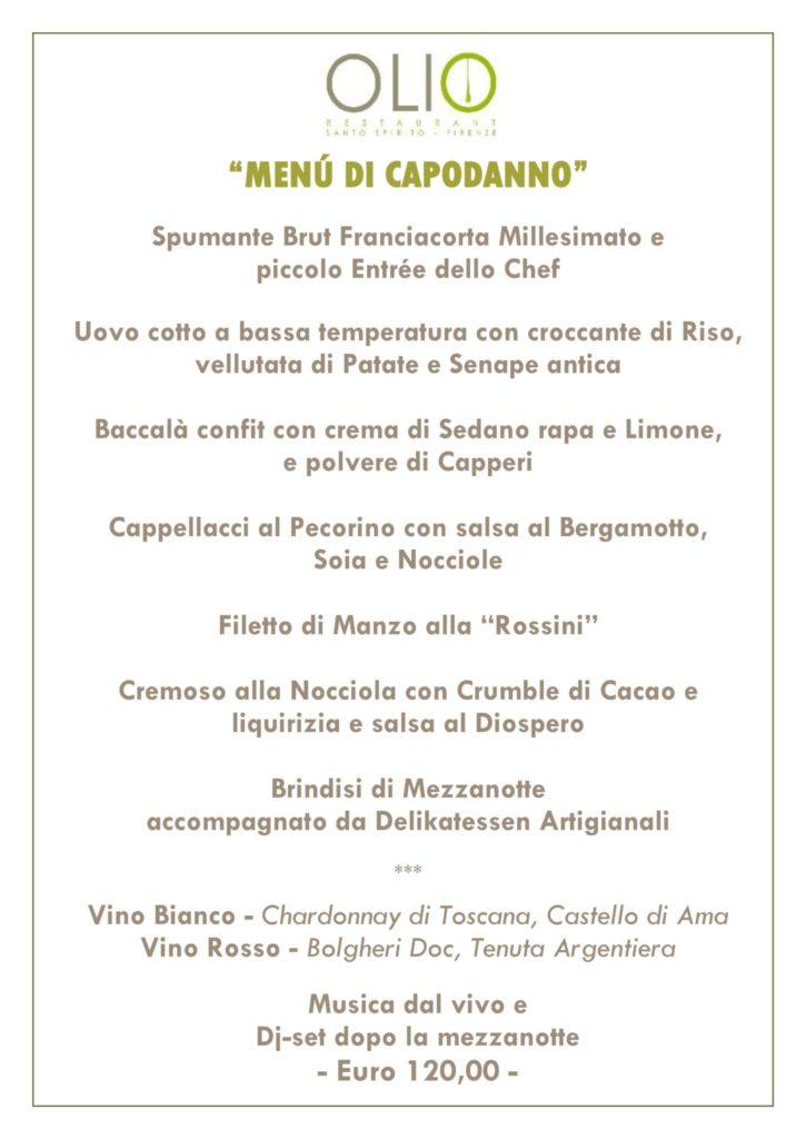 Menù capodanno 18 725x1024 - Natale e Capodanno con Tuscan Excelsia e Olio Restaurant