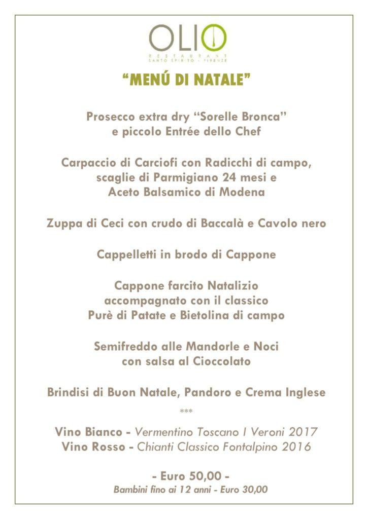 Menù natale18 725x1024 - Natale e Capodanno con Tuscan Excelsia e Olio Restaurant